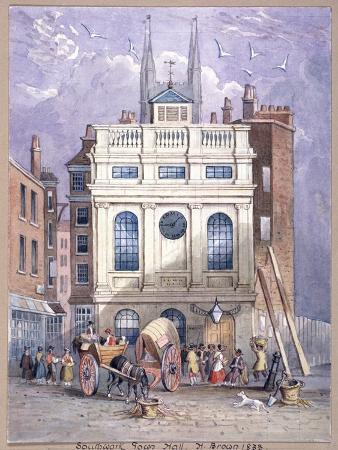 Borough High Street, Southwark, London, 1833