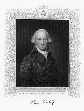 Warren Hastings, the First Governor-General of British India, 19th Century