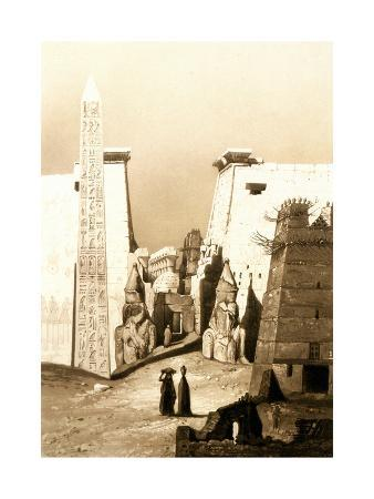 Vue De Face, Luxor, Thebes, Egypt, 1841