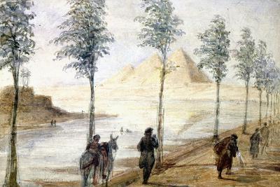 Pyramids at Giza, Egypt, 19th Century