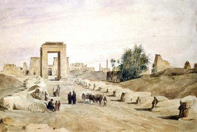 Avenue Des Sphinx, Egypt, 19th Century