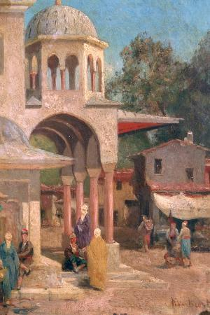 Outside the Mosque, 1823-1900