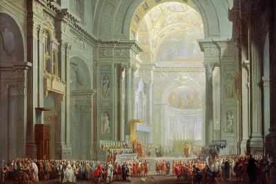 Interior of the Basilica of Saint Peter in Rome, 18th Century