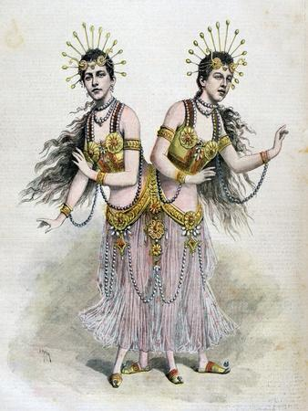 Rosa and Josepha Blazek, Siamese Twins from Bohemia, 1891