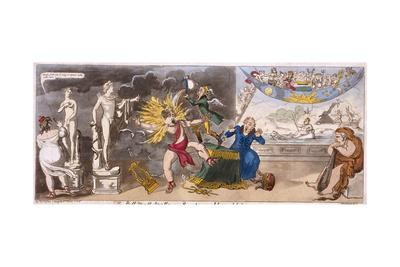 The Pall Mall Apollo or R-Ty in a Blaze, 1816
