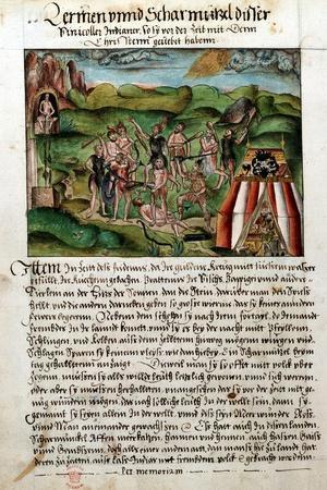 Venezuelans Attacking Spanish Conquistadors, C16th Century