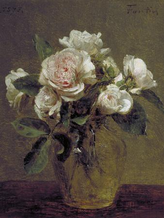 White Roses in a Glass Vase, 1875