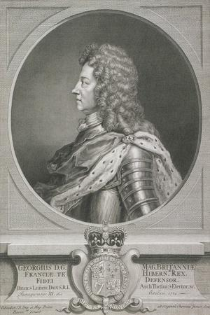 Oval Portrait of George I, King of Great Britain, C1700