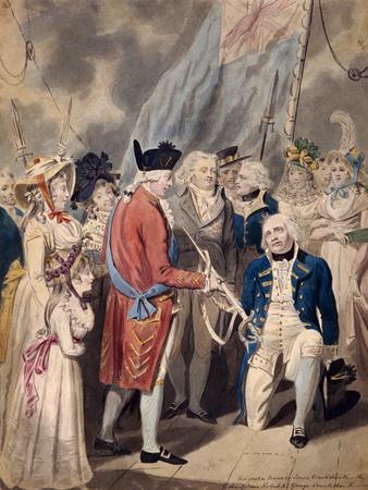 George III Presenting a Sword to Admiral Earl Howe, C1794