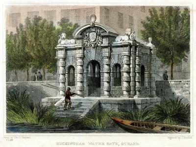 Buckingham Water Gate, Strand, Westminster, London, 1830