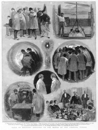 Visit of Military Officials to the Works of the Channel Tunnel, 1884