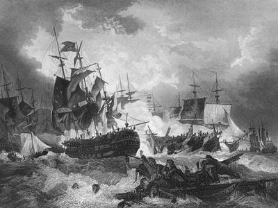Admiral Duncan's Victory over the Dutch Fleet, North Sea, 11 October 1797