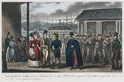 Splendid Jem' Amongst the Convicts in the Naval Dock Yard at Chatham, Kent, 1821