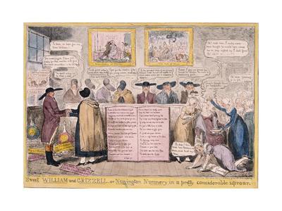 Quaker Uproar, London, 1827