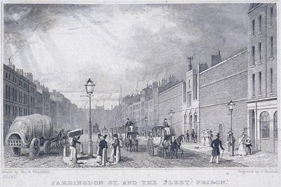 Fleet Prison, Farringdon Street, London, 1829
