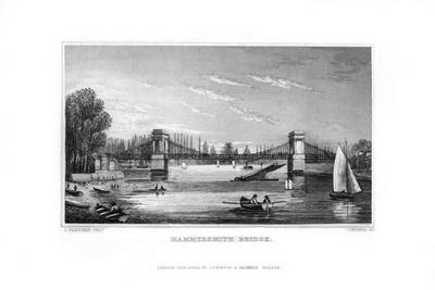 Hammersmith Bridge, Hammersmith, London, 1829