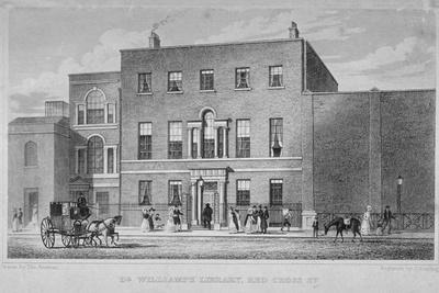 View of Dr Williams's Library in Redcross Street, City of London, 1829