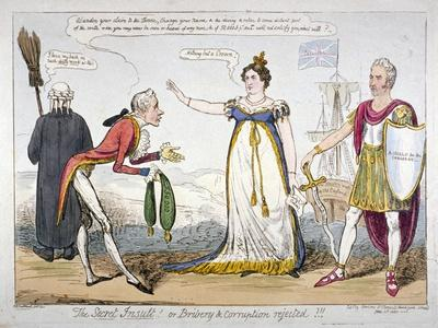 The Secret Insult! or Bribery and Corruption Rejected!!!, 1820