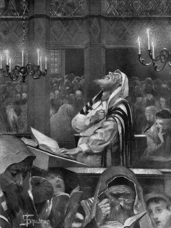 Scene at a Synagogue, the Great Day of Atonement, 6th October 1897