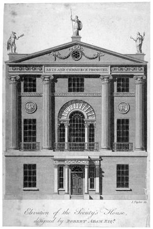 Front Elevation of the Society of Arts Building in John Adam Street, Westminster, London, C1770