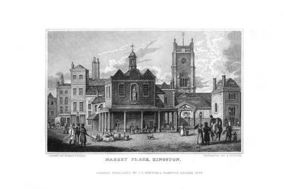 Market Place, Kingston, Surrey, 1829