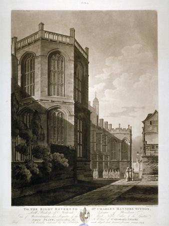 North-East View of St George's Chapel, Windsor Castle, Berkshire, 1804