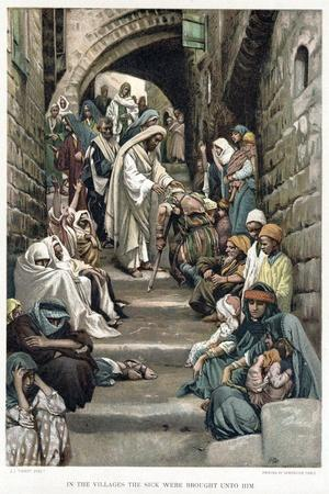 Christ Healing the Sick Brought to Him in the Villages, C1890
