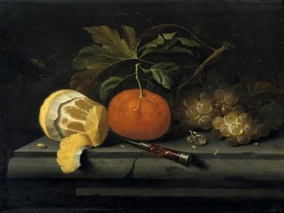 Fruits on a Table Setting of Stone, C1653-1659