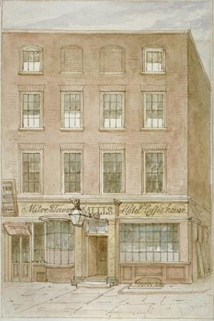 The Mitre Tavern, Coffee House and Hotel on Mitre Court, Fleet Street, City of London, 1850
