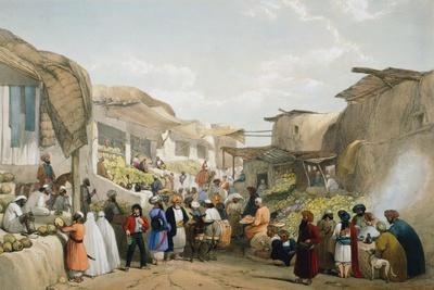 Bazaar at Kabul During the Fruit Season, First Anglo-Afghan War, 1838-1842