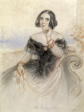 Lady in a Black Dress, 1847