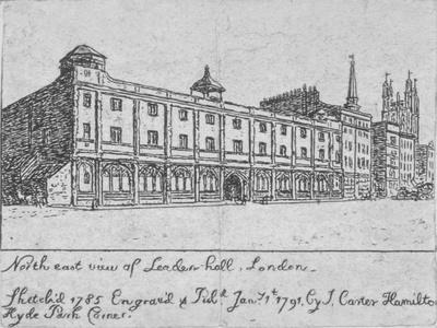 North-East View of Leadenhall, City of London, 1791
