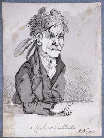 Clerk from the Guildhall's Law Courts, 1801