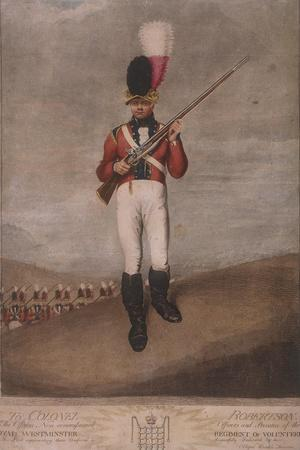Military Figure in the Uniform of the Royal Westminster Regiment of Volunteers, C1800