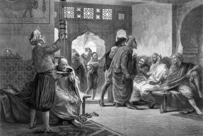 A Barber's Shop in Tunis, 1875