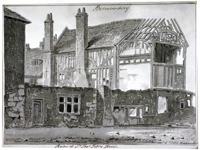 Remains of Thomas Pope's House, Mill Lane, Bermondsey, London, 1808