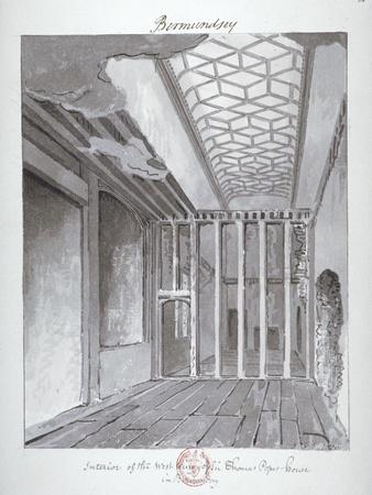 Interior of the West Wing of Sir Thomas Pope's House in Bermondsey, 1808