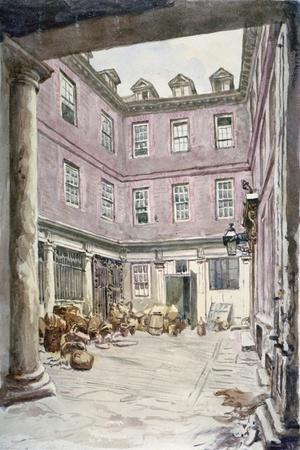 View of the Courtyard of No 102 Leadenhall Street, City of London, 1875