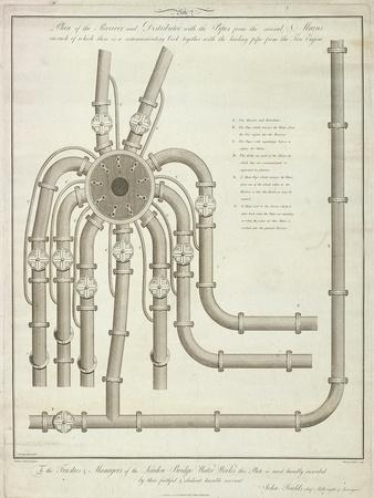 Plan of a Receiver and Distributor at the London Bridge Waterworks, 1780