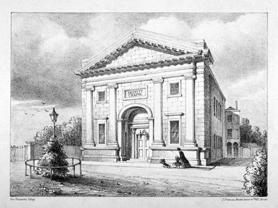 Trinity Chapel, St Thomas Square, Hackney, London, C1850