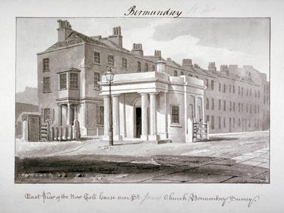 East View of the New Toll House Near St James' Church, Bermondsey, London, 1827