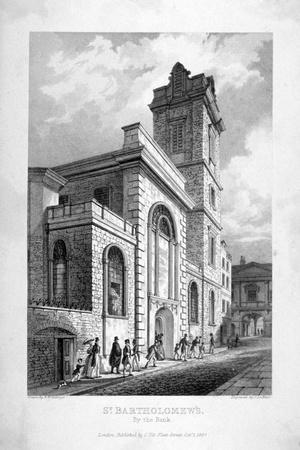 St Bartholomew-By-The-Exchange, City of London, 1837