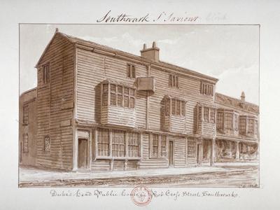 Duke's Head Public House in Red Cross Street, Southwark, London, 1828