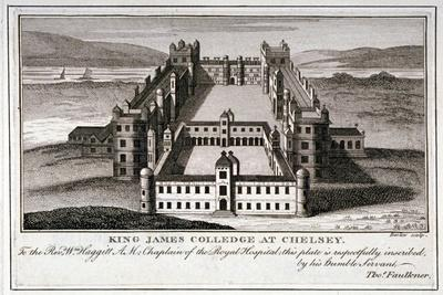 Bird's-Eye View of King James's College, Chelsea, London, C1800