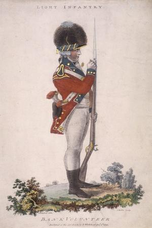 Member of the Light Infantry in the Bank Volunteers, Holding a Rifle with a Bayonet Attached, 1799