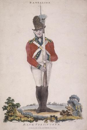 Member of the Battalion in the Bank Volunteers, Holding a Rifle with a Bayonet Attached, 1799