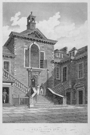 Serjeants' Inn, Chancery Lane, City of London, 1804