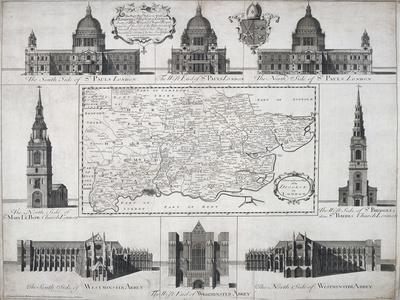 Map of the Diocese of London, 1720