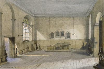The Chapel in Queen's Bench Prison, Borough High Street, Southwark, London, 1879