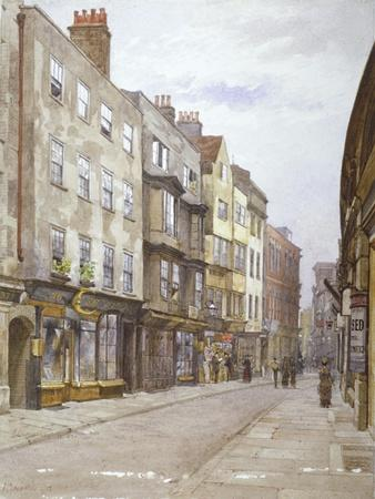 View of Hollywell Street Looking West, Westminster, London, 1882